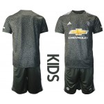 20-21 Youth Manchester United Blank Black Away Soccer Jersey
