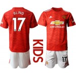 20-21 Youth Manchester United #17 Blind Red Home Soccer Jersey