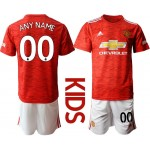20-21 Youth Manchester United Any Name Red Home Soccer Customized Jersey