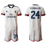 20-21 Real Madrid #24 D.Ceballos White Home Soccer Jersey