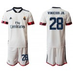 20-21 Real Madrid #28 Vinicius Jr. White Home Soccer Jersey