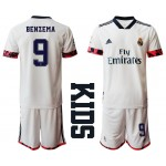 20-21 Youth Real Madrid #9 Karim Benzema White Home Soccer Jersey