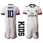20-21 Youth Real Madrid #10 Luka Modric White Home Soccer Jersey