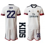 20-21 Youth Real Madrid #22 Isco White Home Soccer Jersey