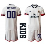 20-21 Youth Real Madrid Any Name White Home Soccer Customized Jersey