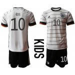 2020 European Cup Germany Ozil #10 white home Kids Jersey