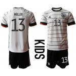 2020 European Cup Germany Muller #13 white home kids Jersey