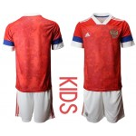 2020 European Cup Russia Red Kids Jersey