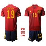 2020 European Cup Spain Diego Costa #19 Red Kids Jersey