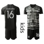 20-21 France Mandanda #16 Black Kids Jersey