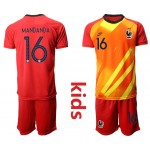 20-21 France Mandanda #16 Red Kids Jersey