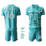 20-21 France Mandanda #16 Blue Kids Jersey
