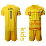20-21 France Lloris #1 yellow Kids Jersey