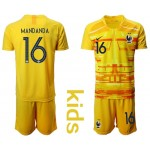 20-21 France Mandanda #16 yellow Kids Jersey