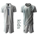 20-21 France Lloris #1 gray Kids Jersey