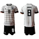 20-21 Germany Kroos #8 white Jersey