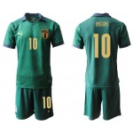 20-21 Italy Insigne #10 Green Jersey